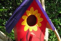 bird house painting for girlies