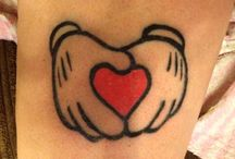 Mickey mouse tatoeages