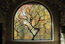 Art nouveau window