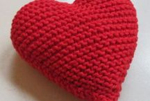 Hearts knitted