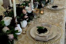 Classic & Traditional / Weddings and events showcasing our tablecloths, also featuring other design inspiration