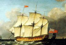 Art - Military Sailing Ships.