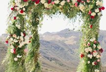 Arches...Not the Park. / This a collection of floral and other arches at wedding ceremonies. We hope they inspire brides to do amazing things!