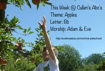 Apples / All About Apples for Cullen's Abc's DIY Online Preschool