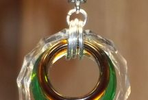 Glass jewelry, pendants etc