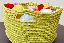 T shirt yarn crochet  / crochet ideas and inspiration