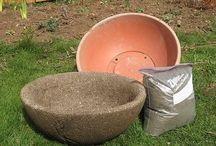 Concrete and hypatufa