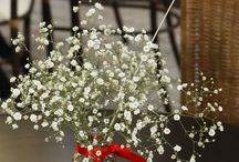 vidros com flores