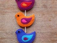 FELT BIRD/ORNAMENTS