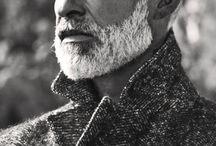 Men's grey hair