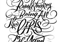 THE LETTERING
