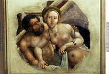 Die Badende / Bathing people in historical depictions