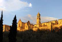 Монастырь Чертоза Галлуццо. Флоренция. / Одно из самых важных мест монастыря - церковь Сан Лоренцо, которая характеризуется  маньеризмом в архитектуре. В интерьере - фрески, картины, роскошный мраморный алтарь 16-го века, древний склеп. Церковь украшена терракотой Андреа и Джованни делла Роббиа (15 и 16 веков). Сохранились пять люнетов  Понтормо (между 1522 и 1525) - эпизоды Страстей Христовых. Люнеты выставлены вместе с богатой художественной коллекцией работ с 14 по 18 века в картинной галерее монастыря.