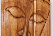 Natural Wood Furniture and Decor / Natural Wood Furniture and Decor from Thailand End Tables, Stools or Stands, Teak spa and bath and teak or monkey pod wood wall decor