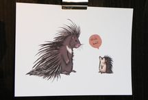 Hedgehogs / everything hedgehog: crafts, art projects, softies and decor