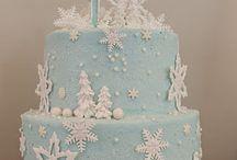 Kış doğum günü pasta