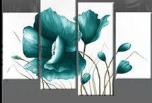 cuadro flores