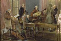 """Ollivier Michel Barthélemy """"Le Thé à l'anglaise servi dans le salon des Quatre-Glaces au palais du Temple à Paris en 1764"""""""