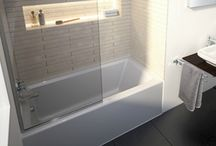 Alcove Tubs With Glass & Tile