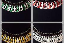 Pop tabs jewelries/ bijoux recyclés en capsules de canettes