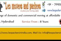 packers and movers hyderabad / Leo packers & movers has invested in bringing up the level of our packing services to fulfill the requirement of all our clients. Leo packers & movers offer a qualitative range of Packing and Relocating Services with extreme security and these services are available as per the client's given information.  Leo packers & movers make use of some latest technologies to meet the needs of our clients.