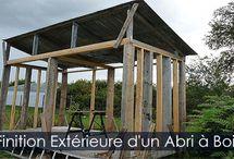Abri à bois - Abri Bûches - Hangar à bois de Chauffage / Étapes de construction d'un abri pour l'entreposage et le séchage du bois de chauffage. Photos et instructions détaillées.