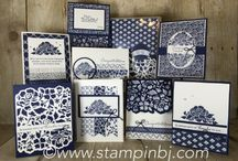 Floral phrases, stamping up bunch of cards