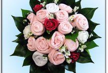 Zamiast żywych kwiatów / Pomysły na bukiety z cukierków, guzików, ubranek niemowlęcych i inne urocze prezenty na ślub, urodziny, jubileusze i inne okazje