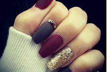 Christmas new year nails