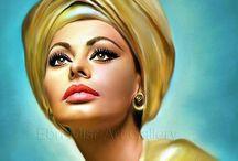 Celebrities art and digital