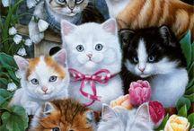 Tekeningen van katten