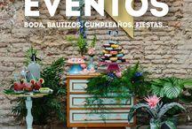 buffet de postres / Presentacion de diferentes montajes para buffet de postres o puestas en escena de la mesa