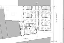 Habiatge Col·lectiu / Plantes d'habitatges en cantonada.