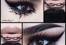 Make-up úst a očí