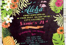 Convite Havaiano