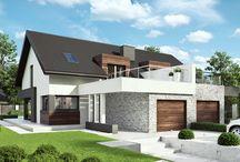 HomeKONCEPT 47 | Projekt domu / HomeKONCEPT 47 to projekt domu przeznaczony do zabudowy bliźniaczej, wyróżniający się ciekawymi rozwiązaniami architektonicznymi.