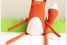 игрушки-лисички шитье