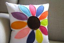 almofadas de flores