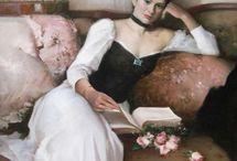 olvasás a művészetben