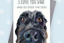 Dog Father's Day Cards