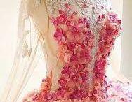 Flowers on dresses