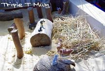 Sand pit dramatic play