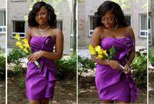 Purple Yellow Green / A fabulous wedding day!