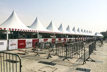 Pagoda Garden Tents / This pagoda features a shorter wall height and soft walls that can be open sided or closed.