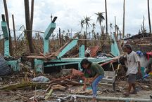 Volunteering in Philippines Disaster Area / My son Charlie, who is working hard to change lives for the better in Tacloban, the area worst hit  by Hurricane Yolande/Haelan in November 2013. Building homes, a feeding center and finding work for local people