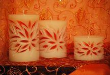 Σκαλιστά κεριά με φυτίλι / Οι δημιουργίες μου Χειροποίητα κεριά