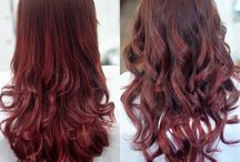 balayage ombre by Pasto Hair / copper red