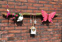 Tuin versiering / Een tak en leuke accessoires