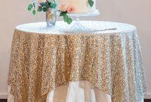 Stephanie & Dave wedding reception table ideas