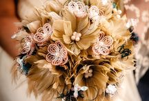 Feather Wedding Bouquets